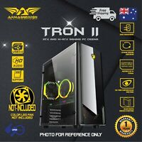 Computer PC Gaming Case ATX Tower Tempered Glass Side Panel without fan TRON II