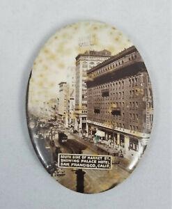 Antique  PALACE HOTEL  Celluloid Pocket Mirror SAN FRANCISCO