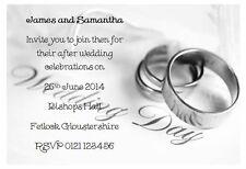 25 Personalised Wedding invitations - EVENING RECEPTION  INVITES