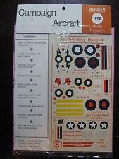 1/72 ALMARKS DECAL NORTH AFRICA 1942 RAF HURRICANE & KITTYHAWK USAF WARHAWK P40F