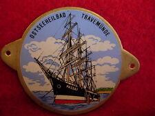 Travemunde Travemünde Ostseeheilbad  badge stocknagel hiking medallion G2624