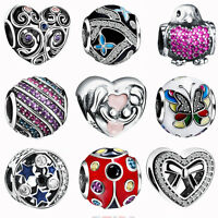 European Silver Cubic Zircon 925 Charms Bead For Sterling Bracelets Necklace