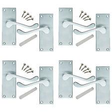 4 Pack of Victorian Scroll Satin Chrome Internal Door Handles 114x40mm