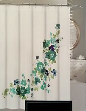 Cynthia Rowley VICTORIA PANEL Watercolor Floral Fabric Shower Curtain Teal,Blue