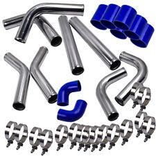"2.5"" 63 Universel Turbo Drift Avant Mount Intercooler Hard pipe Kit Aluminum New"