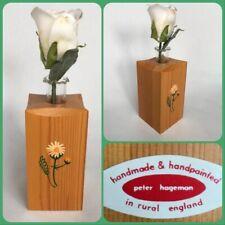 Bud Vase Single Flower Test Tube Made Rural England Wood Folk Peter Hageman Gift