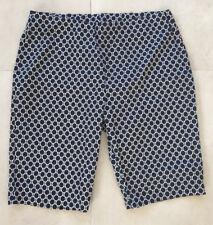 NEW Ladies DUCHAMP Navy Spot Shorts Size 16 BNWT