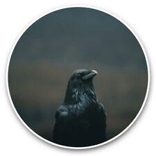 2 x Vinyl Stickers 30cm - Crow Blackbird Raver Black Bird  #44745