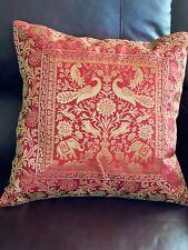 Pillow cover/ Cushion Cover, Art Silk, Brocade, Decorative pillow case, Elephant