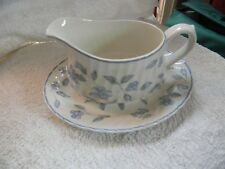 BHS ' BRISTOL BLUE ' GRAVY BOAT AND STAND