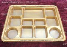 Gold Eleven Compartment plastic plate or Plastic Thali - 50 plates