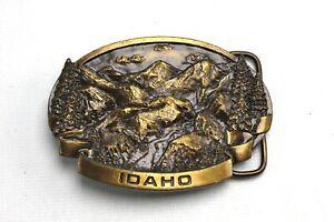 Vintage Idaho Brass Belt Buckle Made in the USA 1978 Bergamot