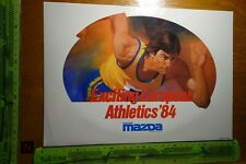 Alter Aufkleber Automobile MAZDA Exciting European Athletics 1984 (Schweden) XL