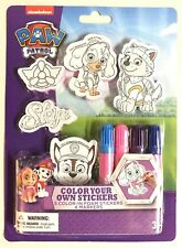 New Paw Patrol Color Your Own Stickers Set Arts & Crafts Markets Nick Jr Gift