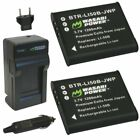 Wasabi Power Battery (2-Pack) and Charger for Ricoh Pentax D-LI92