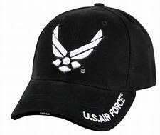 Casquette de l'US Airforce En Relief Taille Unique Ajustable Noir USAF