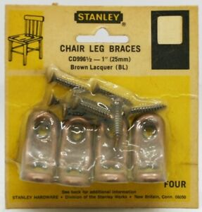 "Vintage Stanley 1"" Chair Leg Braces, Set of 4 - NOS"