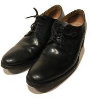 COLE HAAN Mens Black Dress Shoe Soft Leather Plain Toe Lace Up Oxford Size 11 M