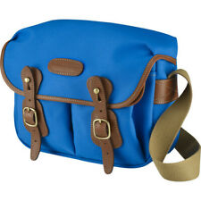 Billingham Hadley Shoulder Bag Small Imperial Blue with Tan Leather Trim