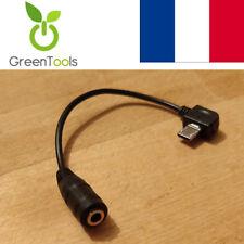 Câble adaptateur micro USB mâle vers prise audio jack femelle 3.5 mm