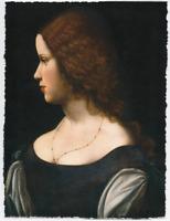 SCHOOL OF LEONARDO DA VINCI PORTRAIT OF WOMAN LIMITED EDITION ART PRINT 18X24