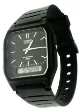 NEW Casio AW48-1E Rare Vintage Classic Digital Analog Watch 50M Black Dial Alarm