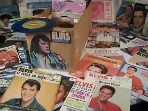 50s/60s Rock vinyl 45 rpm record ALL ELVIS YOU SELECT CLEANED & PLAYS VG+ NM-