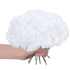 "100pcs Artificial Silk 8"" Carnations Flowers Heads Party Wedding Home Decor"