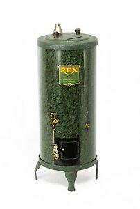 Vintage Tin Lithograph REX Water Heater Advertising Bank