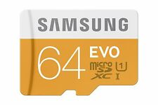 Samsung EVO 64GB  Micro SDXC Memory Card with Adapter up to 48/MB/s (MB-MP64D...