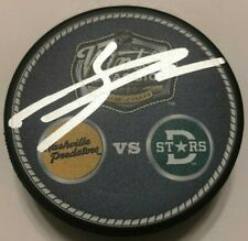 Jason Dickinson Signed 2020 Nhl Winter Classic Puck W/ Case Dallas Stars Coa
