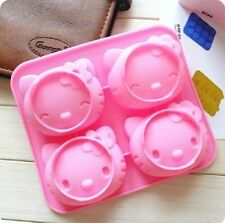 SET of TWO Hello kitty BIRTHDAY CAKE CANDY MOLD ICE TRAY USA Seller Free Ship