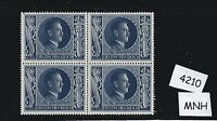 MNH Hitler stamp block / PF08 + PF22 1943 Birthday / WWII Germany / Third Reich