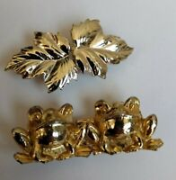 Frogs and Leaves - Set of 2 small Belt Buckles
