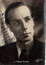 1159-AUTOGRAFO SU CARTOLINA,STUDIO HARCOURT,PIERRE HIEGEL,conduttore radiofonico