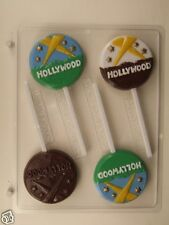 HOLLYWOOD SIGN LOLLIPOP CLEAR PLASTIC CHOCOLATE CANDY MOLD LCA010