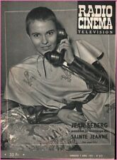▬►Radio Télé Cinéma  377 (1957) JEAN SEBERG JEANNE D'ARC