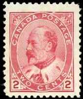 Canada #90 mint VF OG  VVLDG 1903 King Edward VII 2c carmine  CV$100.00