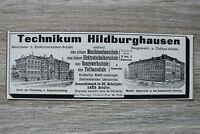 Werbung Anzeige 1900 Technikum Hildburghausen Schule Architektur Holzschnitt