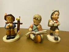 Collection Of 3 Goebel Hummel Figures School Boy She Loves Me Thoughtful