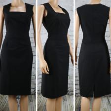KENNETH COLE Dress Black Sleeveless Designer Career A-Line Square neck SZ 4 EUC