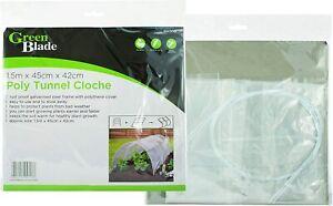 2 x Poly PE Grow Tunnel Cloche Garden Plant Veg Protection Polythene 1.5m