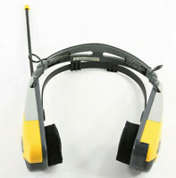 Street Beat AM/FM Sports Radio Headphones Yellow 855 TESTED AND WORKING