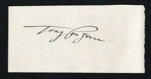 Tony Canzoneri Hand Signed Cut 5.25 wide x 2.75 tall