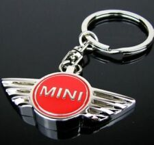 Red Mini Cooper Metal Keyring