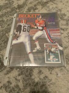 RARE! Beckett Football Card Magazine March/April 1990 John Elway Cover Issue#3