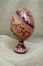 1pc. Ukrainian Painted Wooden Easter Eggs Ukraine Pysanky Pysanka 4,5""