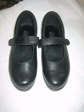 DREW BLOOM II BLACK CALF MARY JANES - SIZE 8M - GREAT FOR ORTHOTICS!!