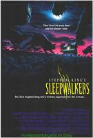 SLEEPWALKERS MOVIE POSTER Original SS 27x40 Final Style STEPHEN KING 1992 HORROR