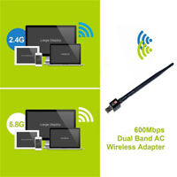 2.4Ghz 600Mbps dual band wireless usb wifi network lan adapter antenna XS
